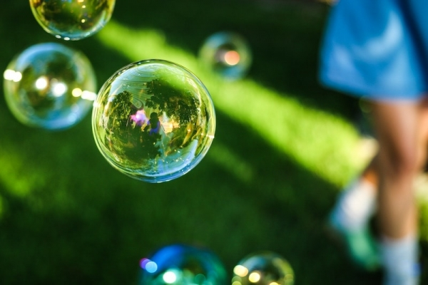 closeup of bubbles